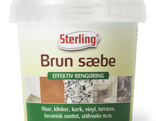 Clean your brush with Sterling Brown Soap