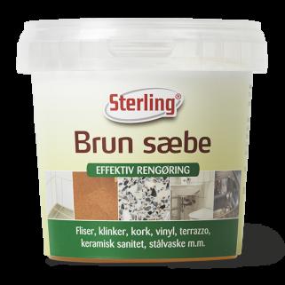 Rengør din pensel med Sterling Brun Sæbe