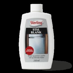 Sterling stålblank, renser polerede metaloverflader. Metalrens
