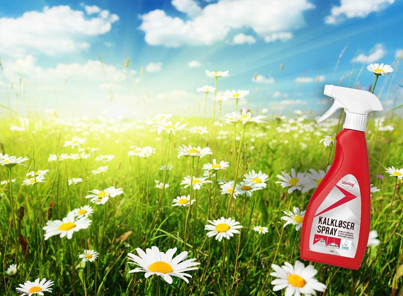 Kalkløser Spray findes nu med EU Blomsten