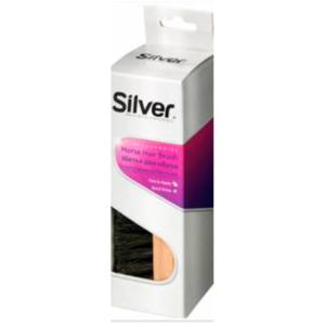 silver hestehårsbørste til skopudsning